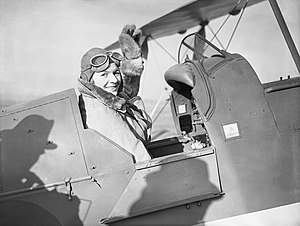 Pauline Gower - Gower in the cockpit of a de Havilland Tiger Moth