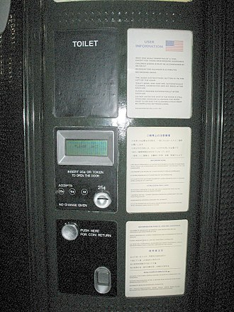 Pay toilet - A pay toilet in San Francisco, California, 2006.