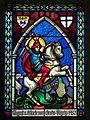 Payerbach - Pfarrkirche - Fenster hl Georg 1952.jpg