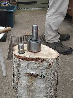 Peening - Image: Peening jig anvil