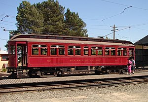 Peninsular Railway (California) - Peninsular Railway 52 at the Western Railway Museum