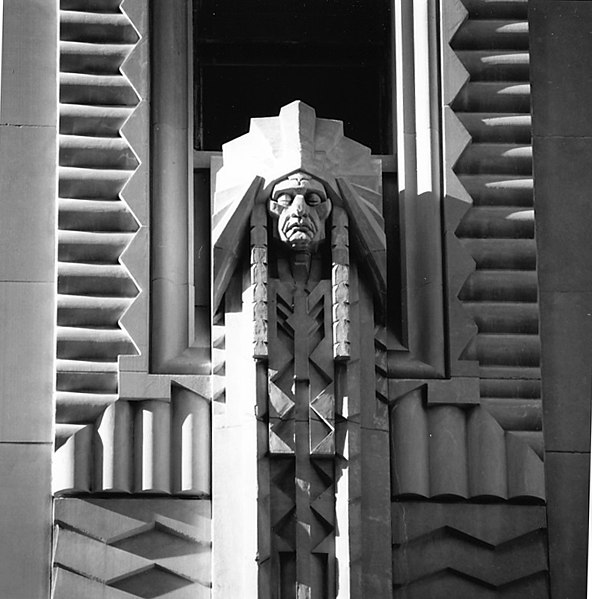 Art Deco carved Penobscot facade