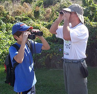 Binoculars - People using binoculars