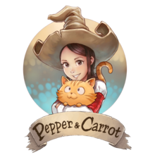 Pepper and Carrot logo since October 2015.png