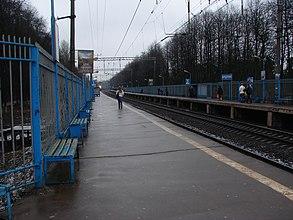 Вид с платформы в сторону Киевского вокзала.