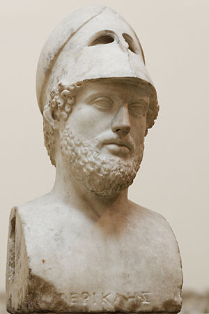 Wars of the Delian League - Pericles, the Athenian politician who led Athens through much of her 'golden age'