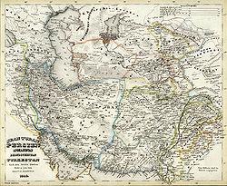 Central Asia, circa 1848.