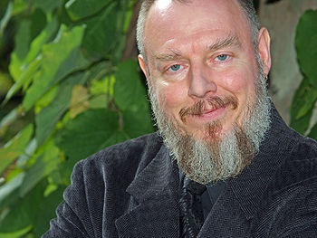 "Peter Gilmore: ""Satanism begins with atheism.  We begin with the universe and say, ""It's indifferent.  There's no God, there's no Devil.  No one cares!""  So you then have to make a decision that places yourself at the center of your own subjective universe, because of course we can't have any kind of objective contact with everything that exists.  That's rather arrogant and delusional...""All photos: David Shankbone"