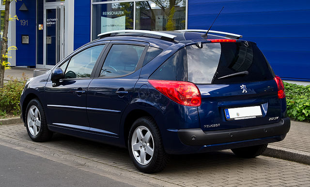 file peugeot 207 sw heckansicht 19 mai 2012 d wikimedia commons. Black Bedroom Furniture Sets. Home Design Ideas