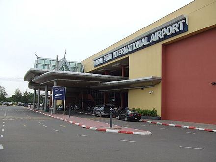 Phnom Penh International Airport is the main international and the busiest airport in Cambodia Phnom penh airport.JPG