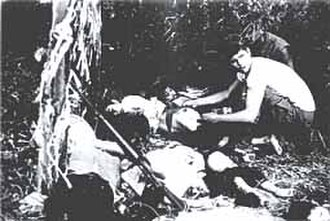 Phong Nhị and Phong Nhất massacre - U.S. Marines recovered victims' bodies in Phong Nhi and Phong Nhat villages on 12 February 1968