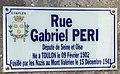 Photo de plaque de rue prise dans la commune d'Étaples - rue Gabriel Péri.jpg