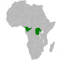 Phyllastrephus xavieri distribution map.png