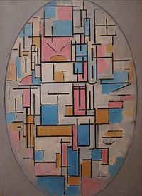 Piet Mondrian (1872-1944)- Composition in Oval with Color Planes 1, oil on canvas, 1914, Museum of Modern Art.JPG