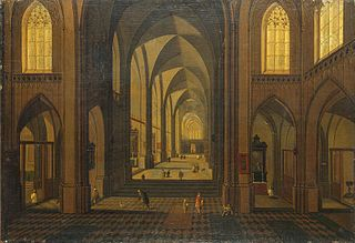 Interior of St Charles Borromeo Church in Antwerp