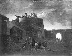 Szene um einen römischen Kalkofen (zugeschrieben)