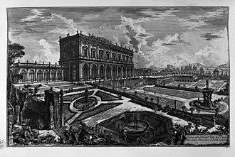 Villa Albani - Drawing by Giovanni Battista Piranesi