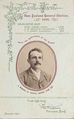 Frederick Pirani - Pirani greeting card, 1893