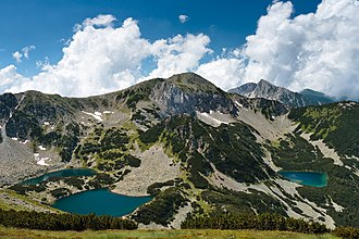 Pirin National Park - A typical landscape of Pirin National Park featuring lakes and marble peaks