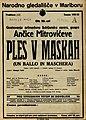Plakat za predstavo Ples v maskah v Narodnem gledališču v Maribor 12. maja 1928.jpg