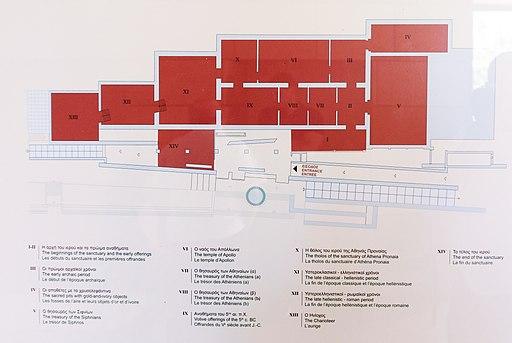Plan of Delphi Museum