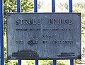 Plaque, Strule Bridge, Omagh - geograph.org.uk - 565270.jpg