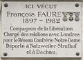 Plaque François Faure, 167 boulevard Saint-Germain, Paris 6.jpg