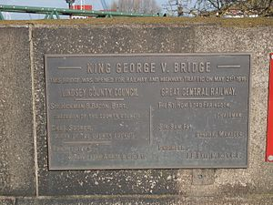 Keadby Bridge - Plaque on Keadby Lifting Bridge regarding its opening on 21 May 1916