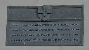 Abbeyleix - Plaque on Market House