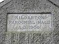 Plaque on the old Kildarton Parochial Hall, AD 1900 - geograph.org.uk - 1755097.jpg