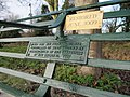 Plaques on the bench - geograph.org.uk - 1651736.jpg