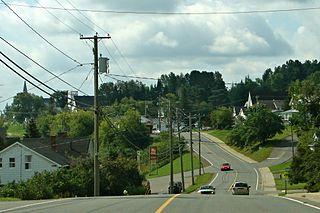 Plaster Rock, New Brunswick Village in New Brunswick, Canada