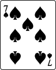 Playing card spade 7.svg