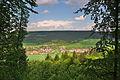 Pohled na vesnici ze skalky jihozápadně od obce, Valchov, okres Blansko.jpg