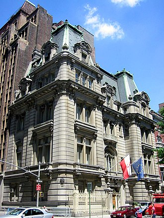 Alice DeLamar - Joseph Raphael De Lamar House at Madison Avenue and 37th Street in Manhattan, now the Polish Consulate