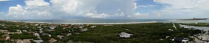 Ponce de Leon Inlet Light - Panoramic view of the Atlantic Ocean from the observation deck