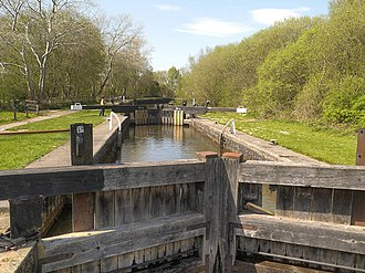 Listed buildings in Ince-in-Makerfield - Image: Poolstock Lower Lock