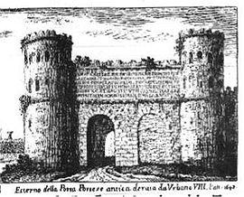Gravure de giuseppe vasi en 1743 - Porta portese sud ...