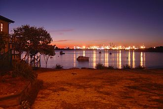 La Perouse, New South Wales - View to Port Botany at dusk