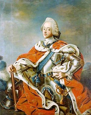 Carl Gustaf Pilo - Portrait of King Frederik V of Denmark, in the collection of the Altona Museum in Hamburg, Germany.
