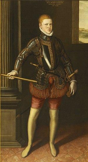 Sebastian of Portugal - Portrait of D. Sebastian of Portugal; Cristóvão de Morais, 1572.