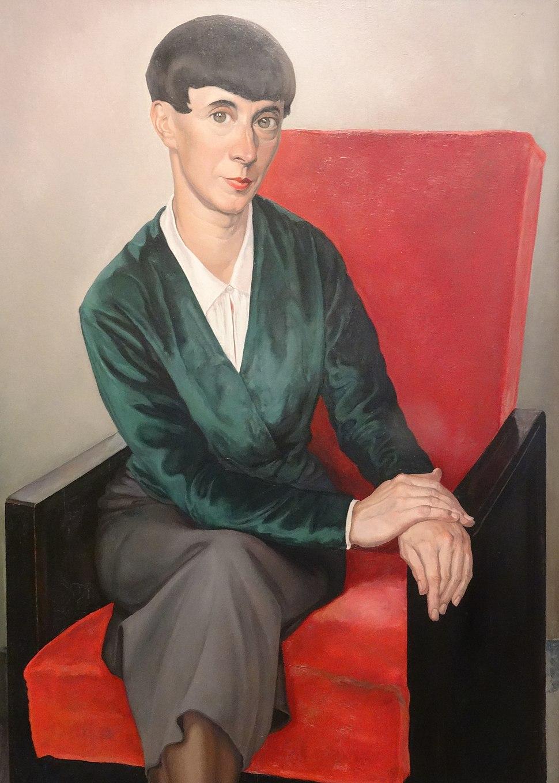 Portret van Hannah Höch (1933), door Chris Lebeau