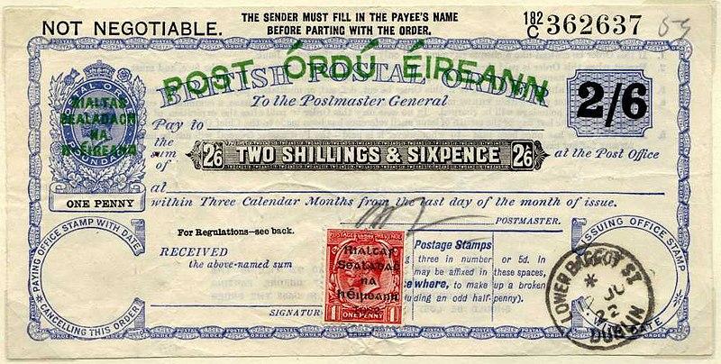 File:Postal Order Provisional Govt Ireland overprint 1922.jpg