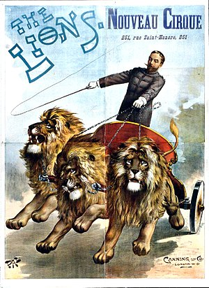 Jean de Paleologu - Image: Poster 'The Lions Nouveau Cirque' by PAL Médiathèque de Chaumont
