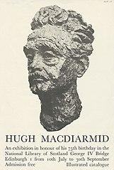 Poster of Hugh MacDiarmid exhibition
