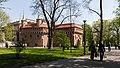 Pozostałości murów obronnych Krakowa- Barbakan; A-8; PL-MA, Kraków, Planty; 01.jpg