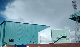 Prenton Park - An outside view of the Main Stand in 2015