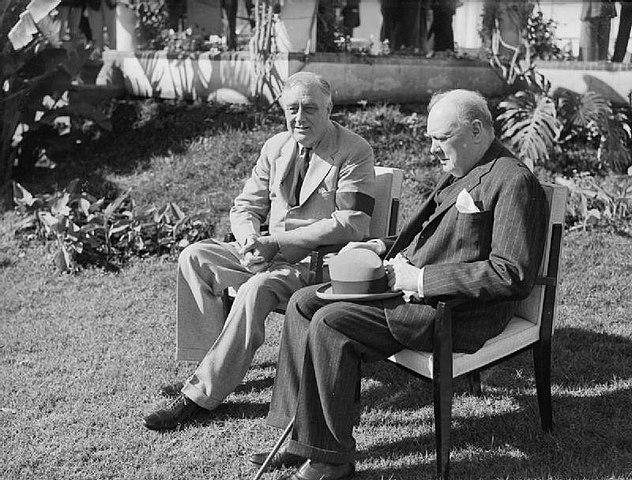 Le président américain Franklin Roosevelt et le Premier ministre britannique Winston Churchill. DR