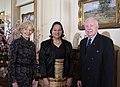 Princess Angelika Latufuipeka Tuku'aho of Tonga, The High Commissioner of Tonga to Australia flanked between Quentin Bryce, The Governor General of Australia and her husband Michael Bryce.jpg