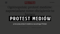 Protest mediów slogan (from Polish Polityka weekly).png